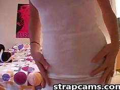 Amateur Teen Teasing On webcam