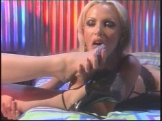 Brunette whore and busty blonde Nikki Benz playing BDSM games