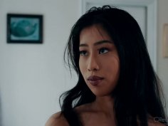 Asian hottie Jade Kush caught her perverted stepdad sniffing her panties