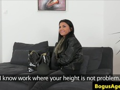 Real euro casted babe with bigtits fucked