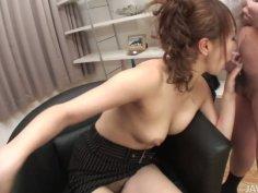 Slutty Jap chick Anna Mizukawa gets cum shower on her face