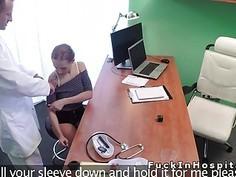 Petite big tits patient bangs doctor in fake hospital