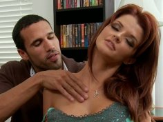 Spoiled red head Joslyn James fucks like pro