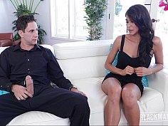 Unfaithful wife blackmailed and banged