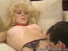 Trashy Vintage Blonde MILF Sex