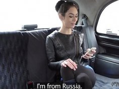 Fit Euro wife cheating in fake taxi