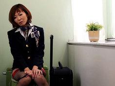Horny Flight Attendants Bathroom Break