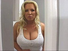 Busty mother helps her step-son