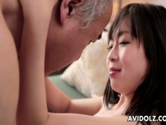 Mature guy gets blowjob from fresh and sexy teen whore Nozomi Hazuki