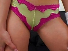 Sweetheart with a frame gets camel toe caressed