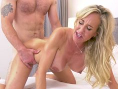 Busty mom Brandi Love on her fours gets pussy pounded