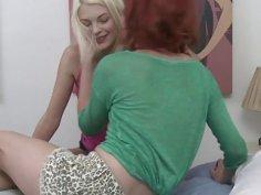 Stunning teen Bree licked Elles wet teen pussy
