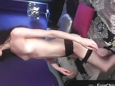 Anya shows her perfect pussy