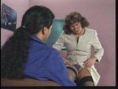 Cougar business woman Leonore seduces her subordinate