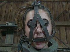 Sasha has to wear the weirdest BDSM mask I have ever seen